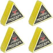 Dime Bag Hardware Triple Slick Skateboard Curb Wax Lemon - Yellow 4 Pack