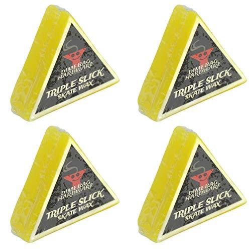 Dime Bag Hardware Triple Slick Skateboard Curb Wax, Lemon (Pack of 4)