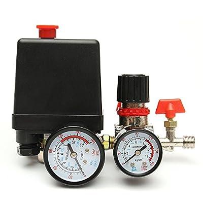 Saver 125PSI Air Compressor Pressure Valve Switch Control Manifold Regulator Gauges