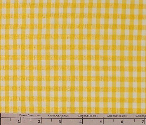(Classic Checkered Searssucker Plaid Fabric, Seerssucker Plaid Fabric, Seersucker Shirting Fabric -)
