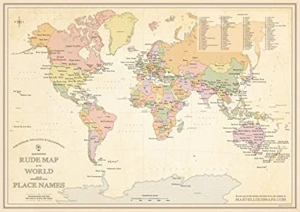 Australia Map Rude Names.St G S Magnificently Rude Map Of World Place Names Amazon Co Uk