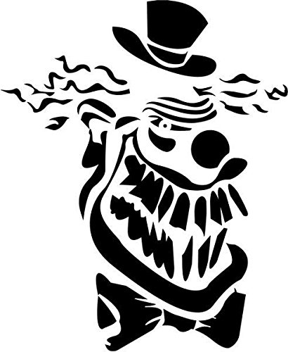 Images Of Scary Clowns (Clown Scary Skull Vinyl Decal Sticker- 6