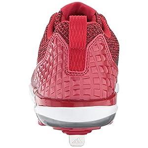 adidas Originals Men's Freak X Carbon Mid Baseball Shoe, Power Red, Silver Met, FTWR White, 11.5 M US
