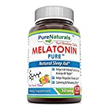 Pure Naturals Melatonin Tablets Supports Healthy Sleep and Promotes a Relaxing Effect, 10 mg, 120 Count