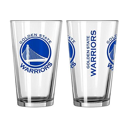 NBA Golden State Warriors Gameday Pint Glass 16 ounce