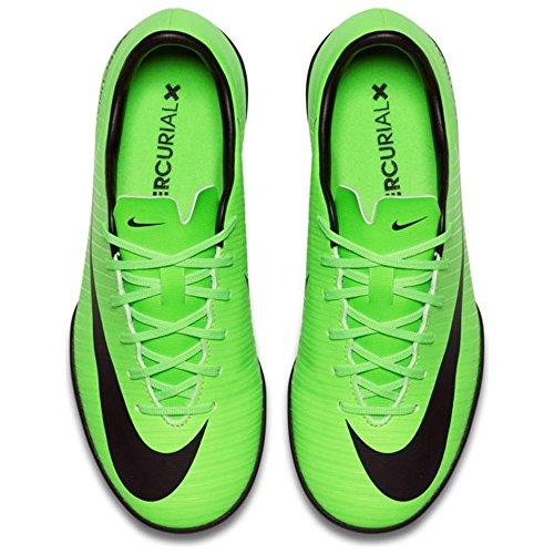 Nike - Junior Mercurialx Vapor XI TF - 831949303 - Colore: Nero-Verde - Taglia: 31.0