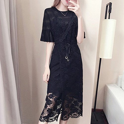 pices Ensemble Robes Black Deux MiGMV Costume Jupe Robe L Harnais t Dentelle Robe en vxdwqxPO
