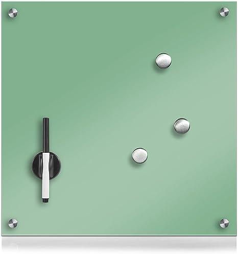 Zeller 11651 - Pizarra de Madera, Cristal, Vidrio, Verde Menta, 40 x 40 cm: Amazon.es: Hogar