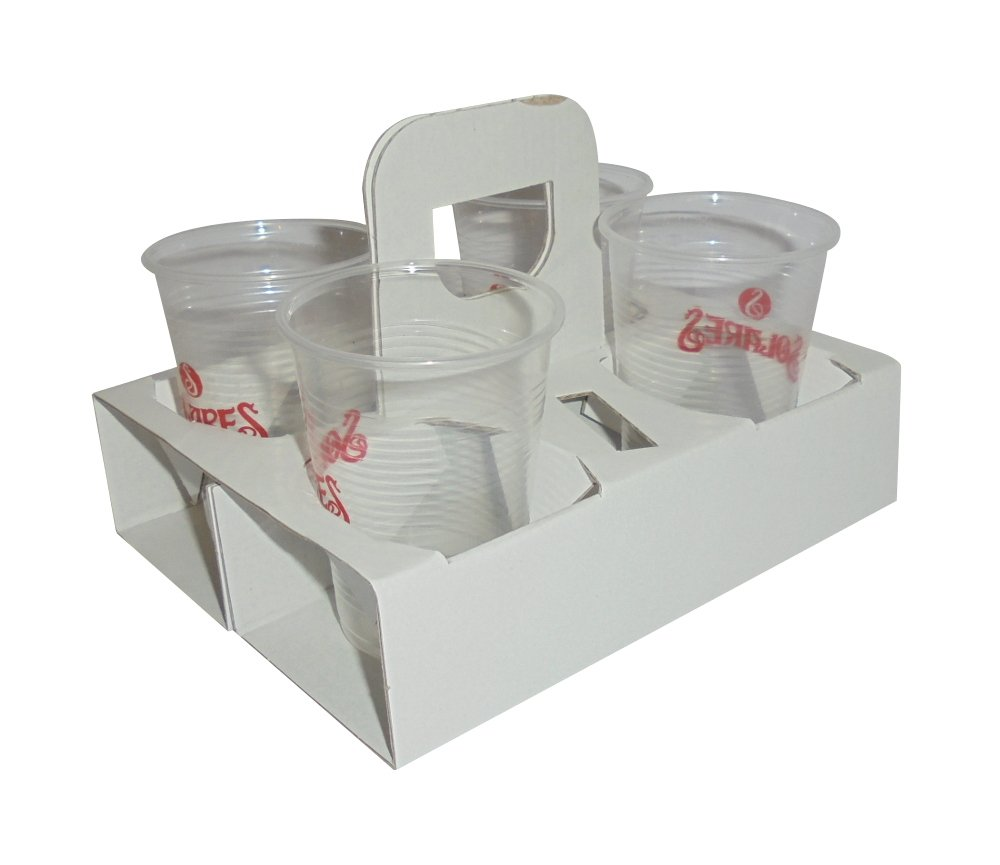SDG Pack of 60/Basket Holder 4/holes for Cappuccino and Caffe American Travel Paper Coffee Cup Holder