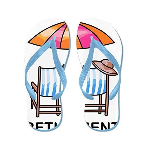Cafepress Pension - Flip Flops, Roliga Rem Sandaler, Strand Sandaler Caribbean Blue