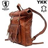 Berliner Bags Rucksack Vintage Ledertasche Reisetasche Retro Schule Braun Groß