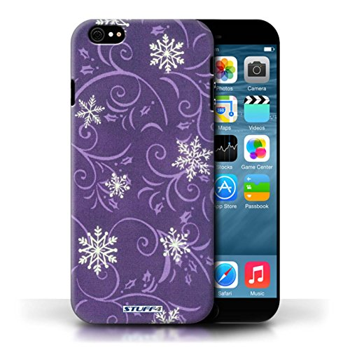 pour Apple iPhone 6/6S / Pourpre conception / Collection de Motif flocon de neige