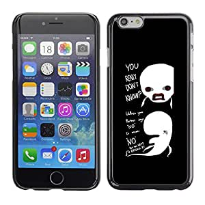 Apple (4.7 inches!!!) iPhone 6 Plus 5.5 , Radio-Star - Cáscara Funda Case Caso De Plástico (Funny - Really Don'T Know Whales)