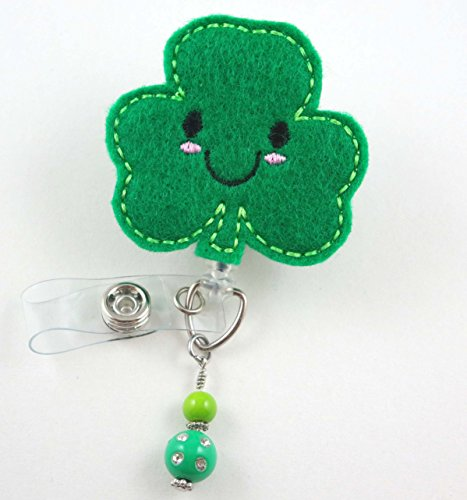 St. Patrick's Day Clover - Nurse Badge Reel - Retractable ID Badge Holder - Nurse Badge - Badge Clip - Badge Reels - Pediatric - RN - Name Badge Holder