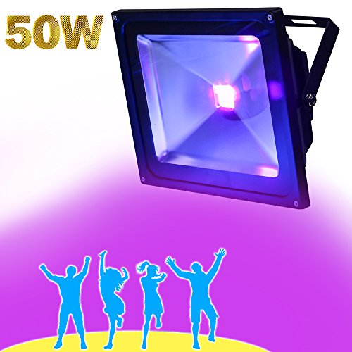 YQL Outdoor Blacklight,High Power 50W UV LED Flood Light for DJ Disco Club,Night Clubs,UV Light Glow Bar,Birthday Parties,Blacklight Party,Aquariums and Other Entertainment Venues Stage (Fluorescent Christmas Lights)