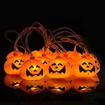 Halloween String Lights Indoor : Domire Battery Operated LED Fairy String Lights 3D Pumpkin 10 LEDs Halloween Decoration Light ...