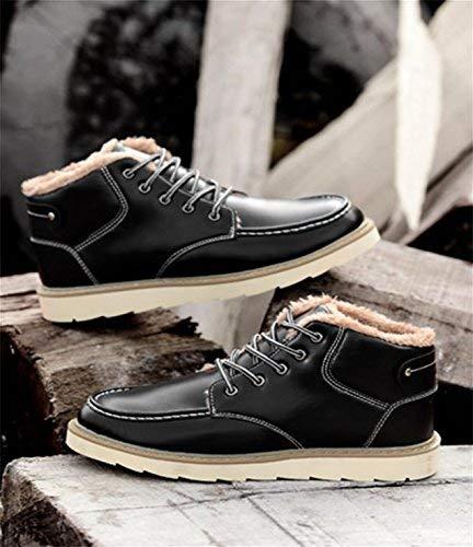 Oudan Oudan Oudan Männliche Winter Flut hohe Stiefel Plus Samt gepolstert warm wasserdicht (Farbe   Schwarz, Größe   39) 5cf9ec