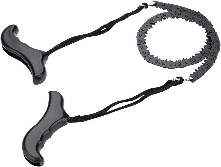 Fafeims Sierra de Cadena de Metal Ligero Cable de Cadena de Bolsillo Manual Mini Sierra Manual para Acampar Senderismo
