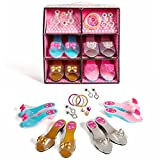 Super star 12 piece Dress up Shoes and Jewelry set.