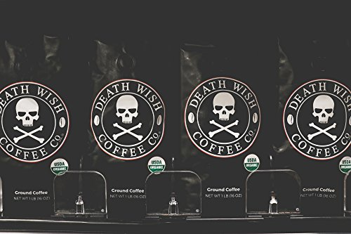 Death Wish Ground Coffee, The World's Strongest Coffee, Fair Trade and USDA Certified Organic, 16 Ounce by Death Wish Coffee Co. (Image #5)