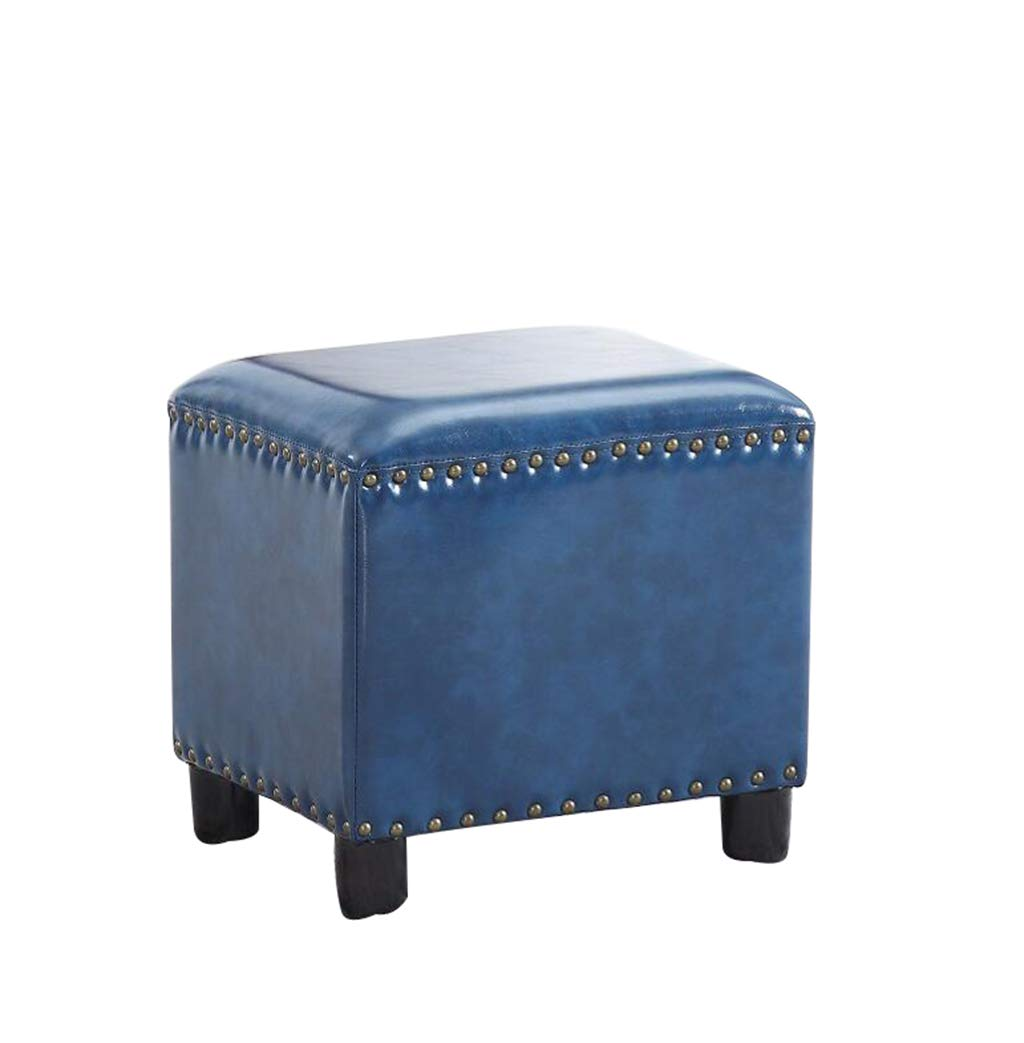 E American Cube Stool Wooden Stool Home Change shoes Sofa Stool (color   C)