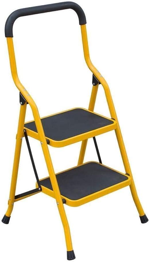 Zbm-zbm Escalera Plegable De 2 Pasos, Escalera De Aluminio Liviana, Con Rieles De Seguridad Antideslizantes, Pedal Grueso Y Ancho, Portátil, Barandilla, Escalera Plegable For El Hogar Taburete pequeño: Amazon.es: Hogar