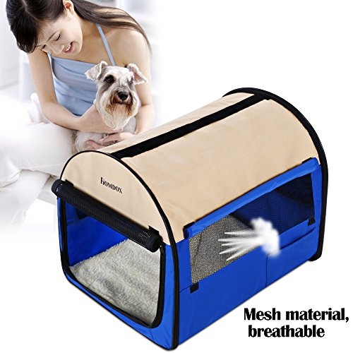 Homdox 28inch Soft Pet Dog Crate With Door Window Portable Anywhere Indoors Outdoors