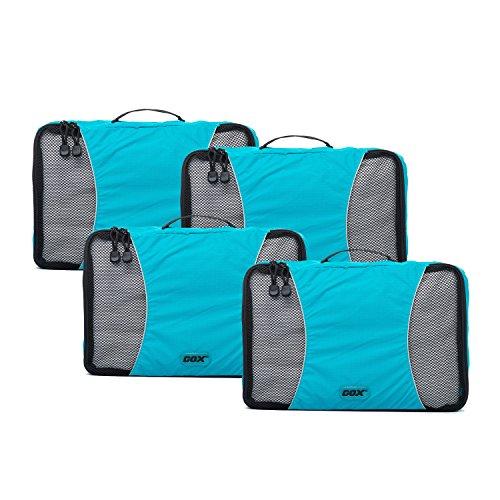GOX Ultra Light 4-Piece Packing Cubes Set Travel Luggage Packing Organizers 4xMedium
