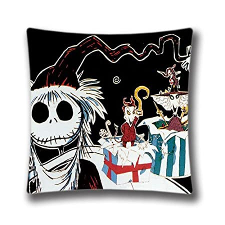 Wishgift Merry Christmas Pillow Cover Nightmare Before Christmas