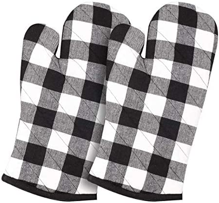 Cotton Clinic Buffalo Check Gloves