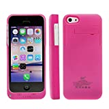 Bao Core BXT External Rechargeable Backup Extended Battery Charger Pack Case Cover for iPhone 5 5S 5C (2600mAh,Rose)