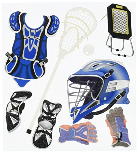 Jolee's Boutique Themed Ornate Stickers, Lacrosse