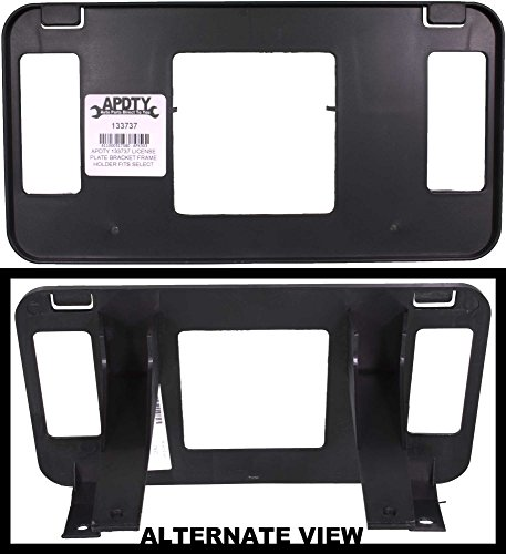 APDTY 133737 License Plate Bracket Frame Holder Fits 1999-2002 Ford Expeidtion 99-04 Ford F150 F250 F350 (2-Wheel Drive; View Description For Specific Models; Replaces XL3Z17A385AA, XL3Z-17A385-AA)