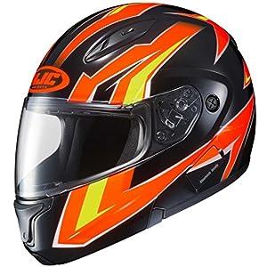 HJC CL-Max2 Ridge Modular/Flip Up Motorcycle Helmet (Orange/Black, Medium)
