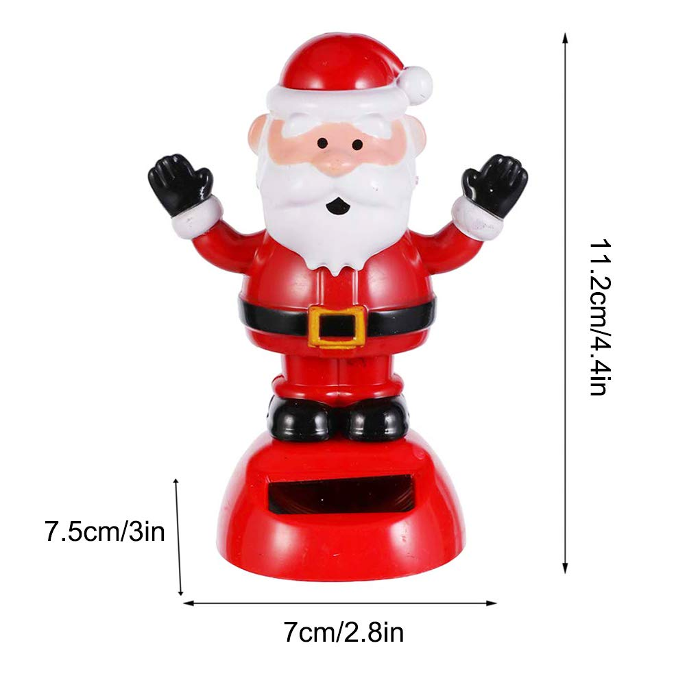 con Testa di Pompon Giocattolo di Natale a energia Solare Bozaap