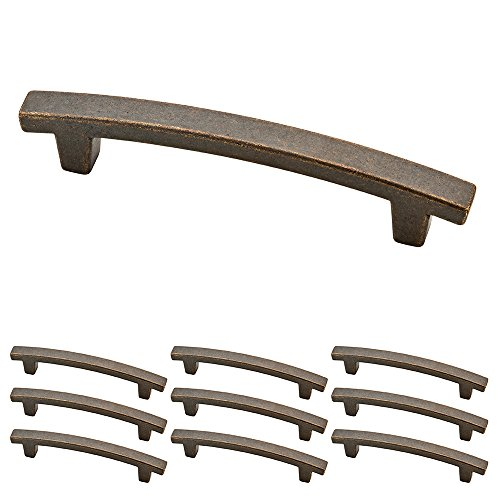 Franklin Brass P29615K-WCN-B Warm Chestnut Pierce Kitchen or Furniture Cabinet Hardware Drawer Handle Pull with 4-Inch Hole Centers, 10 pack
