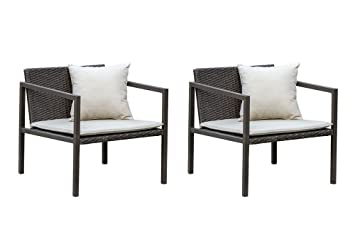 Amazon Com Living Express 2pcs Patio Chairs Outdoor Steel Frame