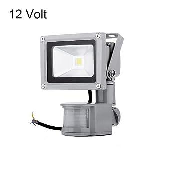 Acdc 12v 10w motion sensor light pir led flood lights 50w acdc 12v 10w motion sensor light pir led flood lights 50w halogen mozeypictures Images