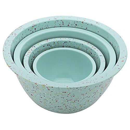 Zak Confetti Recycled Plastic Mixing Bowl Green 4 Piece Set