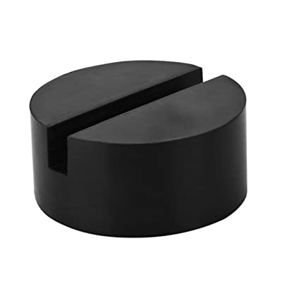 Rubber Jack Pads (Slotted) - Universal, Standard-Size - Frame Rail Protector: Automotive