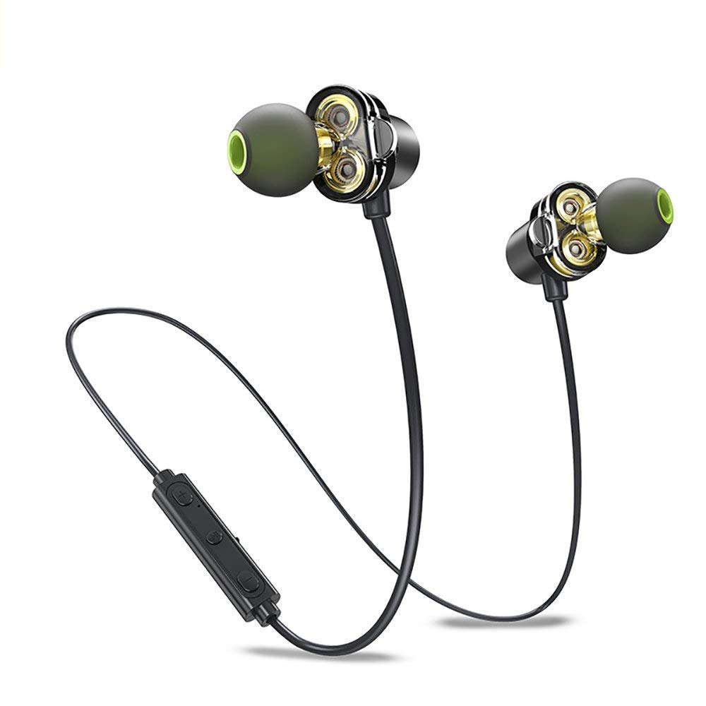 Wireless Dual Driver in-Ear Earphones/Earbuds | Magnetic Stowaway | CSR Bluetooth - Super High Fidelity Sound Quality | IPX 6 Sweatproof | 6 Hours Play Time | Ergonomic Fit | Microphone | HARP Ultra