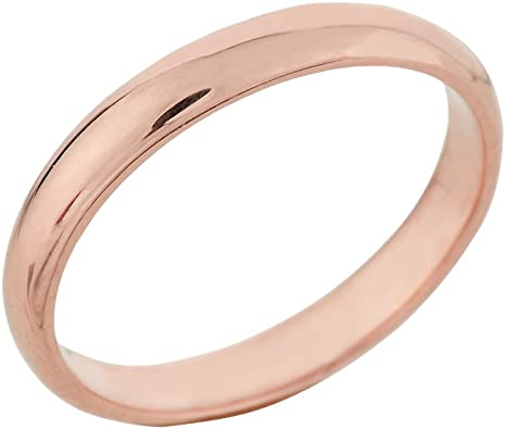 Classic 10k Yellow Gold Comfort-Fit Band Dainty 3mm Wedding Ring for Women