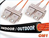 125M OM1 SC SC Fiber Patch Cable | Indoor/Outdoor Duplex 62.5/125 SC to SC Multimode Jumper 125 Meter (410.10ft) | Length Options: 0.5M-300M | FiberCablesDirect - Made In USA | mmf sc-sc patch dx i/o