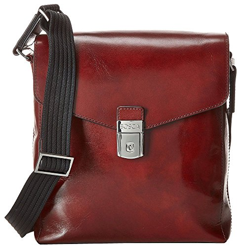 Bosca Leather Bag - Bosca Old Leather Man Bag (Dark Brown)