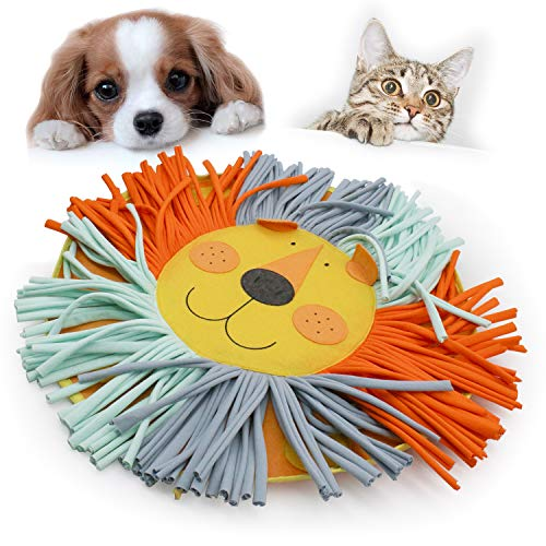 coonoe Pet Snuffle Mat for Dog Cat Feeding, Durable Interactive Pet Toys Encourages Natural Foraging, Cotton Fabric Strips are Healthy, 21