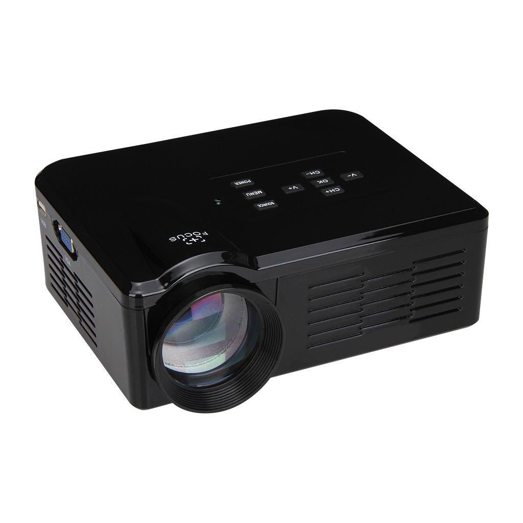 家庭用LEDプロジェクター 【ブラック】 800ルーメン フルHD対応 投映最大100インチ HDMI/USB/VGA入力対応 メモリカード再生可 FMTBL35BK B06Y5RBSRW