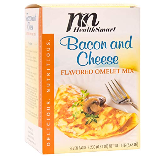 HealthSmart - High Protein Diet Omelet - Bacon & Cheese - 15g Protein - Low...