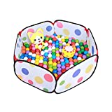 Generic Kids Pop Up Ball Pit Play Baby Ball Pool Garden Play Tent House Sports Toy Kids Toddlers Age 1/2/3 Toys- Balls Not Included!(Multicolor)
