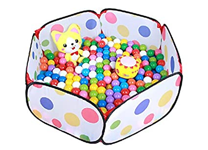 Generic Kids Pop Up Ball Pit Play Baby Ball Pool Garden Play Tent House Sports Toy Kids Toddlers Age 1/2/3 Toys- Balls Not Included!(Multicolor) AOLE