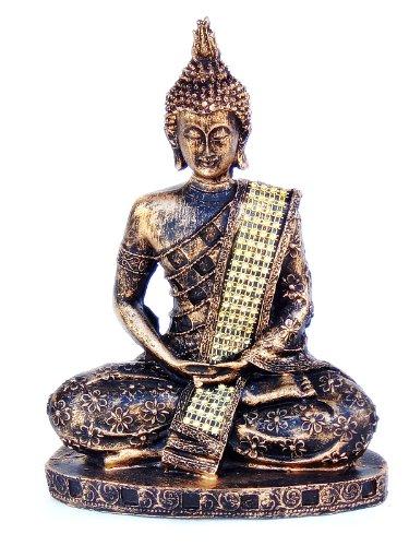 8-Thai-Buddha-Meditating-Peace-Harmony-Golden-Brown-Statue